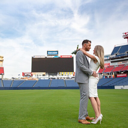 Wedding at Nissan Stadium, Nashville Tennessee