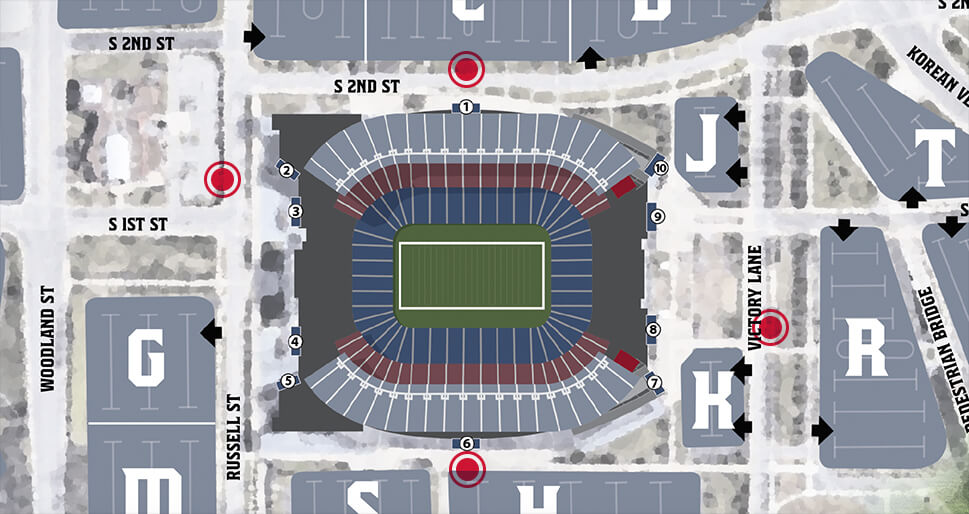 Nissan Stadium bike map