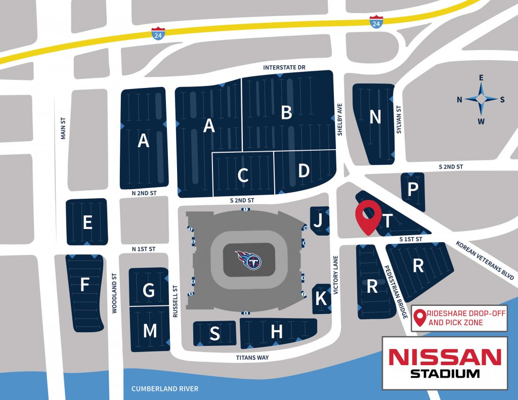 Nissan Stadium Parking Map 19