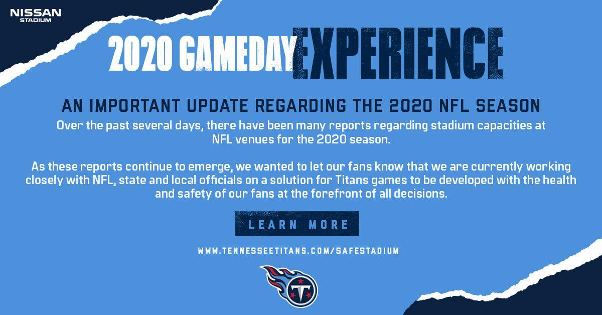 2020 titans gameday experience - Nissan Stadium