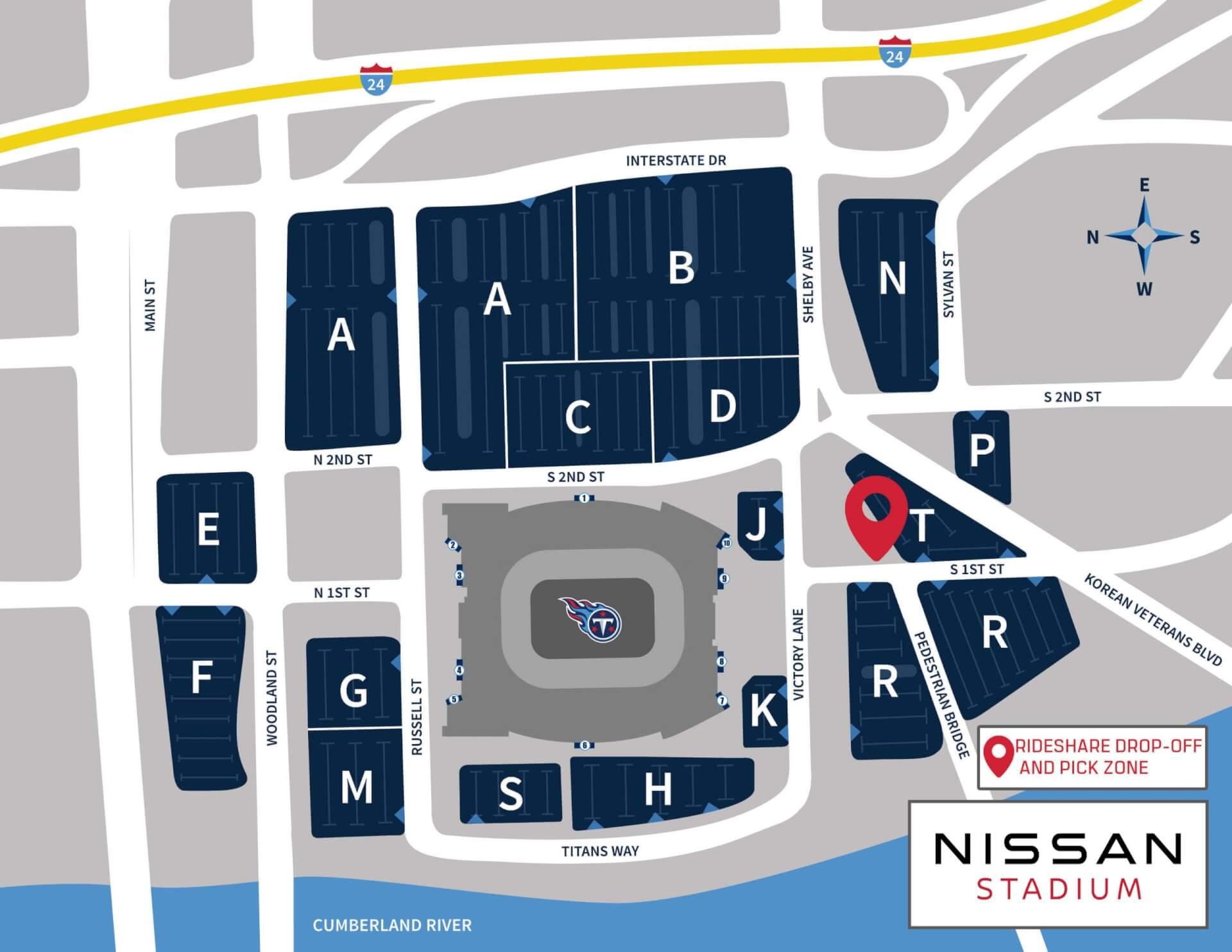 nissan stadium parking 2020 scaled - Nissan Stadium