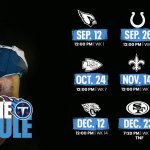 Tennessee Titans Home Schedule