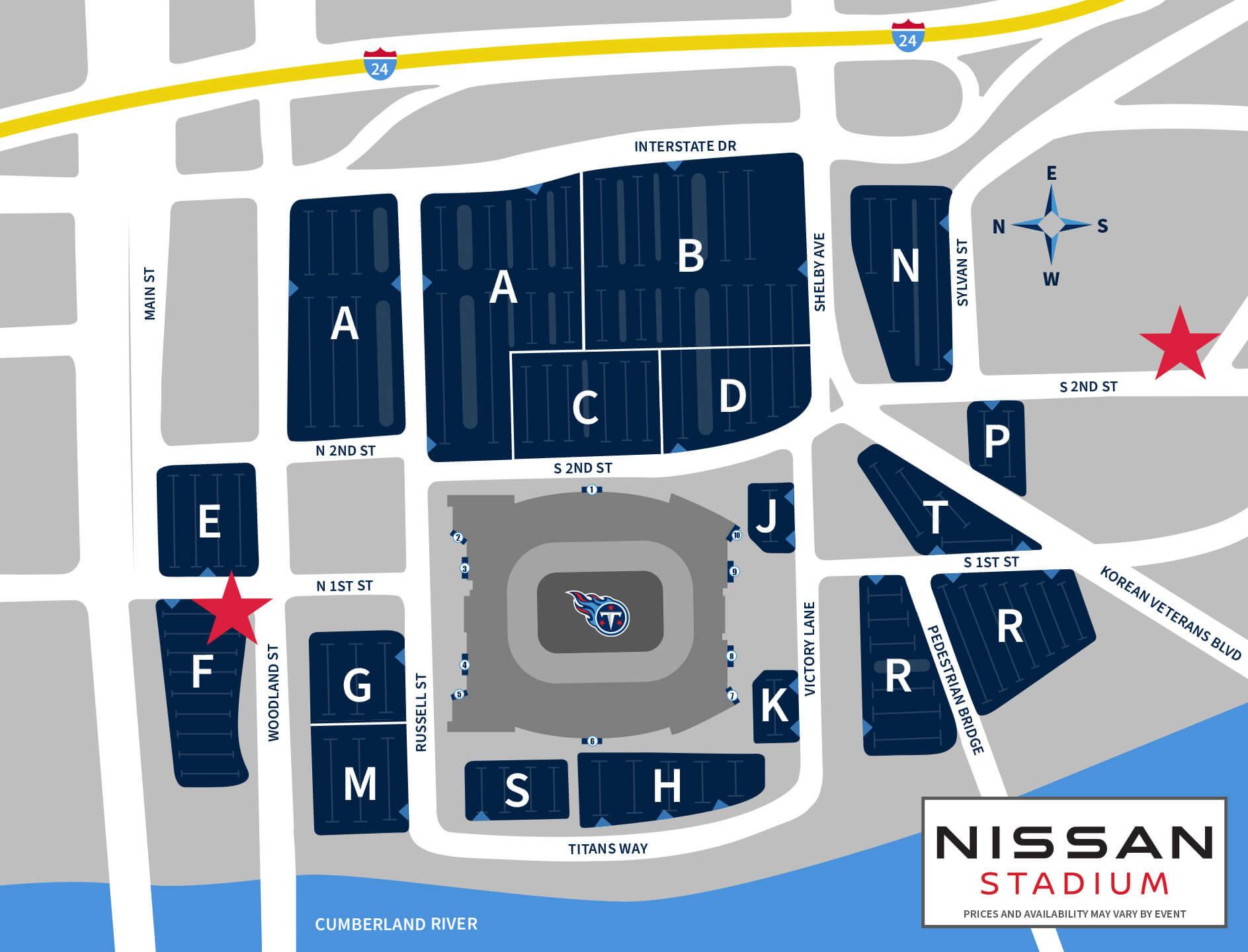 Nissan Stadium Parking