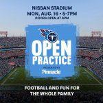 Tennessee Titans Open Practice at Nissan Stadium