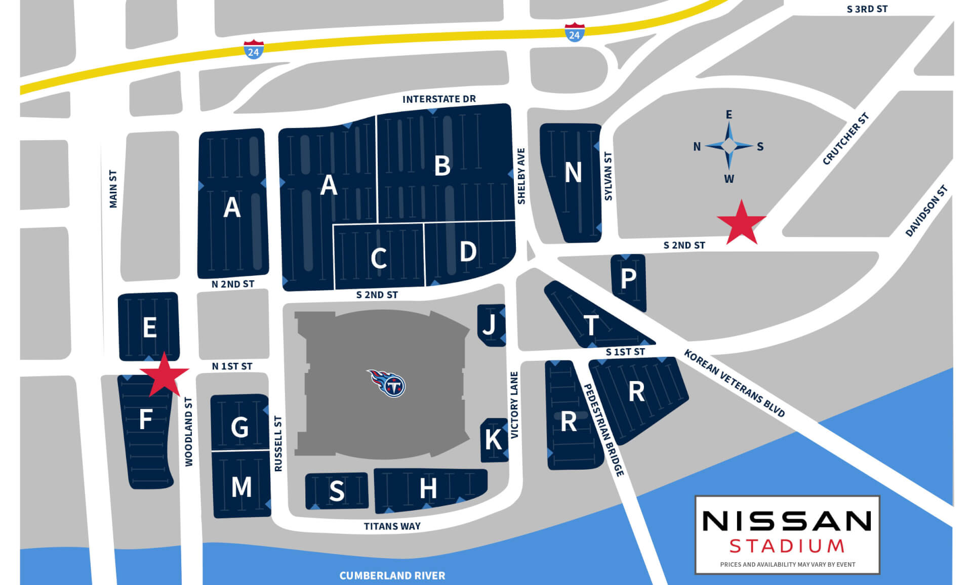 Nissan Stadium Parking and Rideshare
